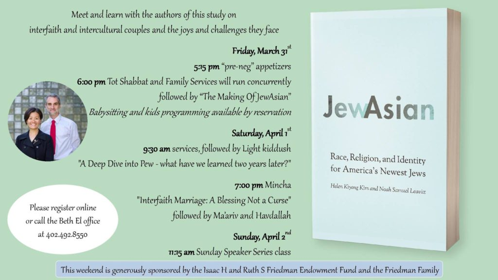 A weekend with Helen Kim and Noah Leavitt, the authors of JewAsian.